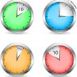 Stock Vector: Timers