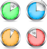 Timers — Stock Vector