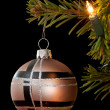 Modern christmas bauble - Stockfoto