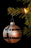 Modern christmas bauble — Stock fotografie