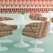 Stock Photo: Retro interior design of cafe
