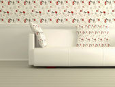 Part of the modern interior with white sofa — Stock Photo