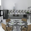 Stock Photo: Interior of modern kitchen