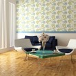 Stock Photo: Bright interior design of modern living room