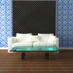 Bright interior design of modern living room — Stock Photo