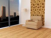 Design interior of elegance modern living room — Stock Photo