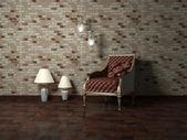 Design de interiores romântica de quarto moderno — Fotografia Stock