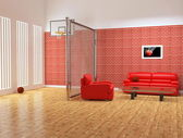 Modern interior of sport studio — Stock Photo