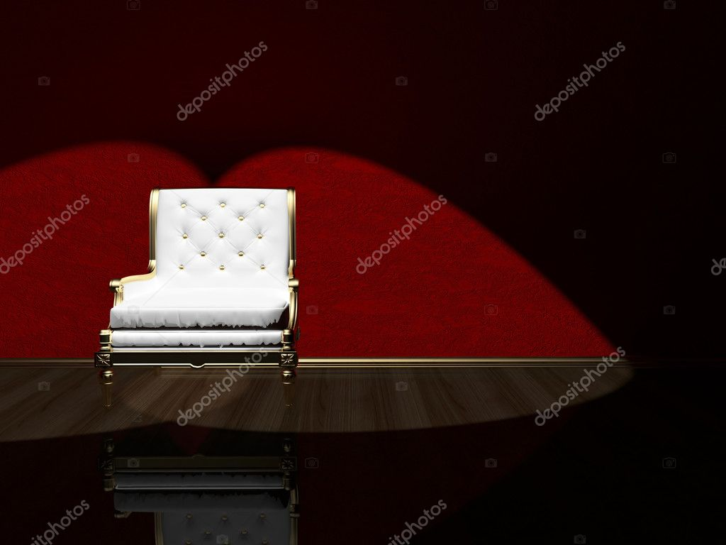 Classic armchair floodlighting, 3d render — Stock Photo #7814733