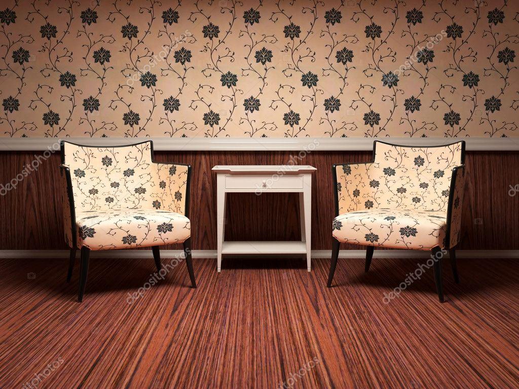 Design av interiör av modernt vardagsrum — stockfotografi ...