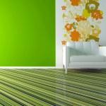 Interior design of modern green living room — Stock Photo #7866844