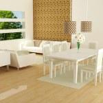 Interior design of modern white living room — Stock Photo #7867332