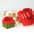 Christmas, new year gift boxes — Stock Photo