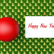 Royalty-Free Stock Photo: New Year background with red ball