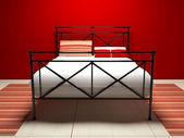 Modern interior design of bedroom — Stock Photo