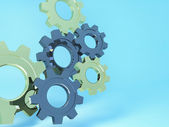 Machine Gears, 3d background — Stock Photo