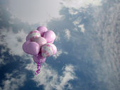 Multicolored balloons in the sky — Stock Photo