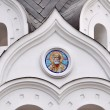 White ortodox church (detail) — Stock Photo
