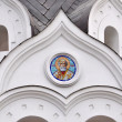 White ortodox church (detail) - Stock Photo