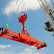 Crane and spreader — Stock Photo