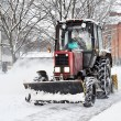 An automated snow removal — Stock Photo