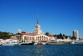 Sochi city marina — Stock Photo
