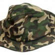 Military khaki hat - Stock Photo
