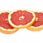 Ripe grapefruit on a white background — Stock Photo