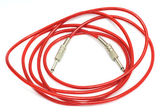 Electric guitar patch cable isolated on white — ストック写真