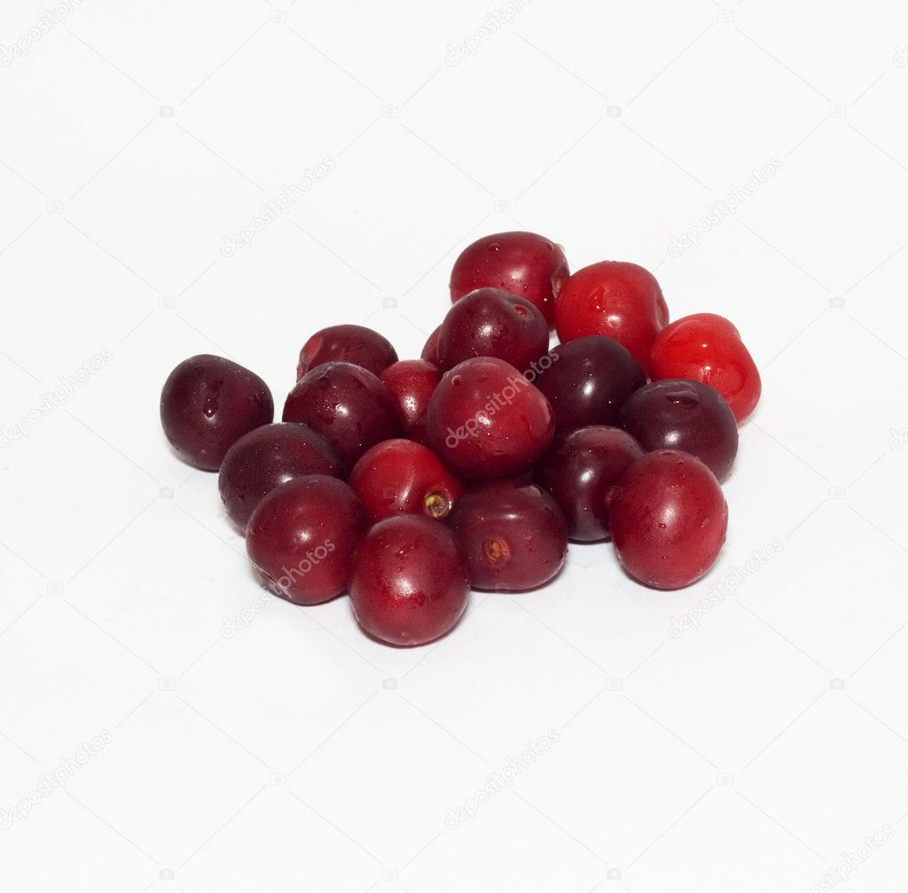 Cherries on white background — Stock Photo #6863991