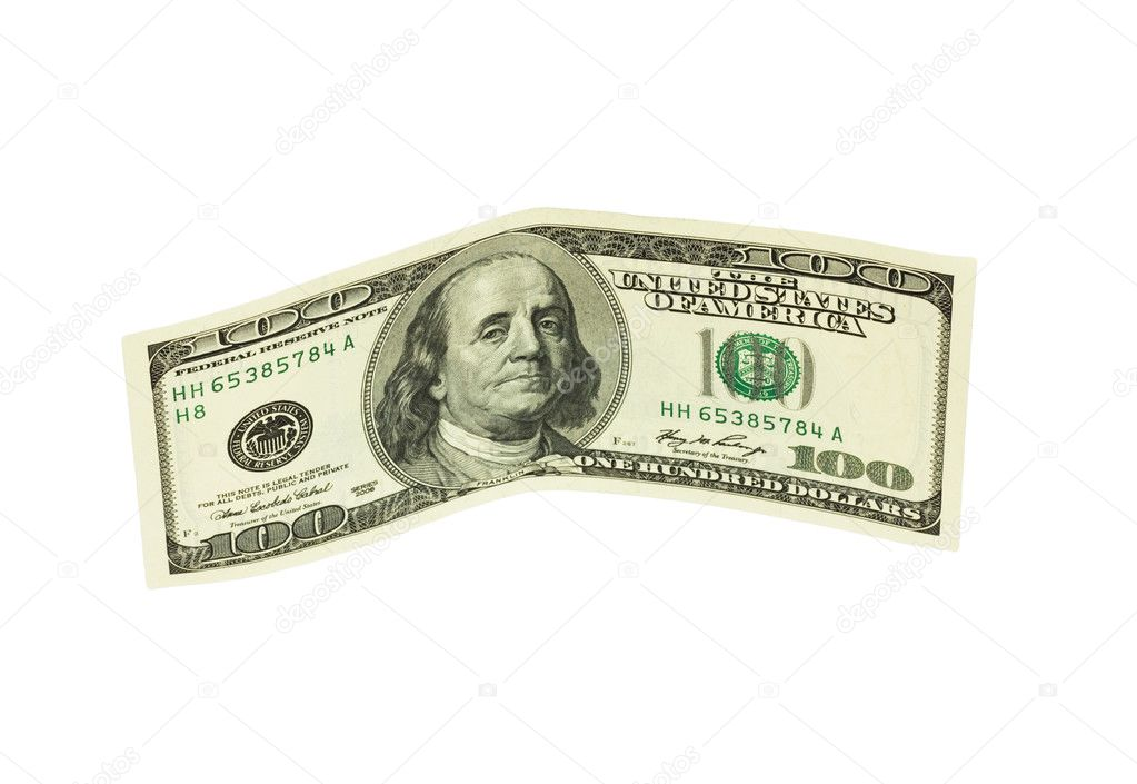 Banknote isolated on a white background  — Stock Photo #6864553