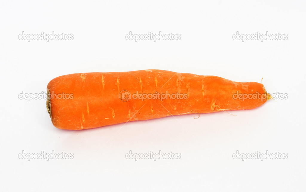 Fresh Carrot Isolated on a White Background  — Stock Photo #6865048