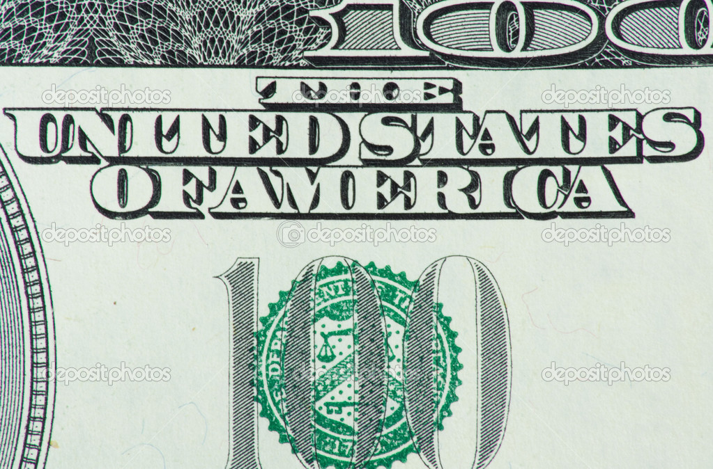 100 dollars macro  Stock Photo #6865898