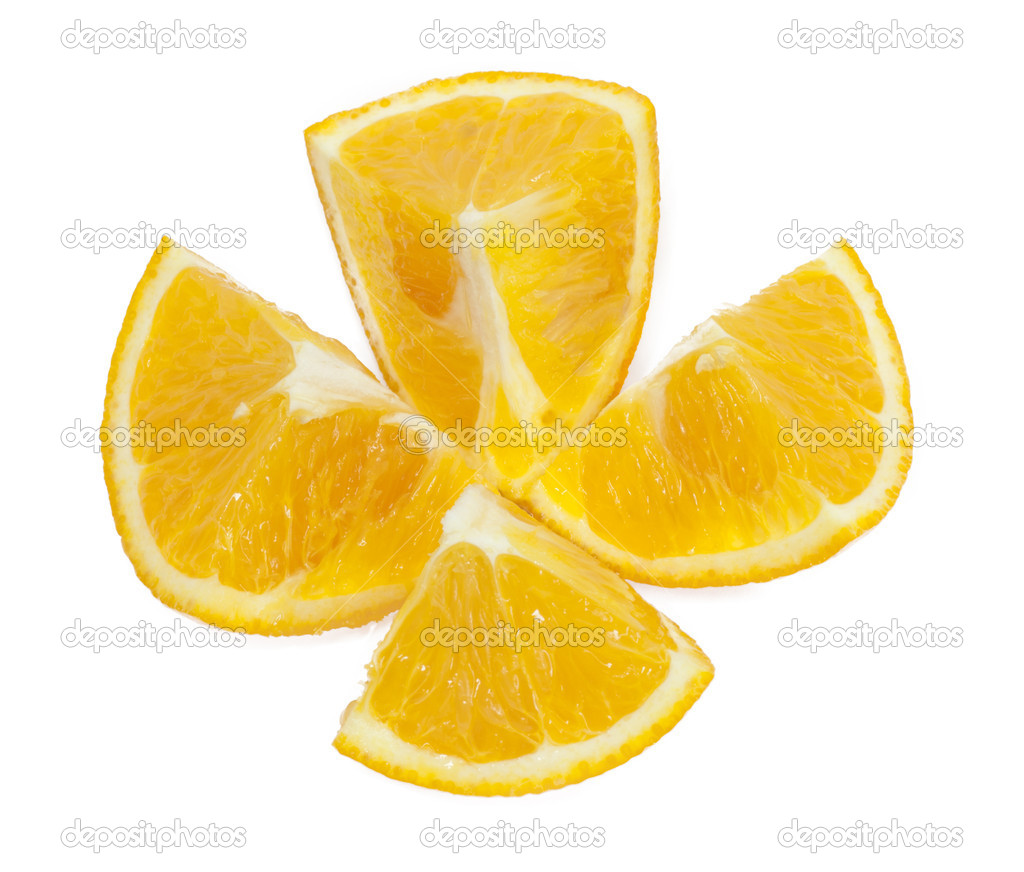 Oranges isolated on white  — Stock Photo #6865983