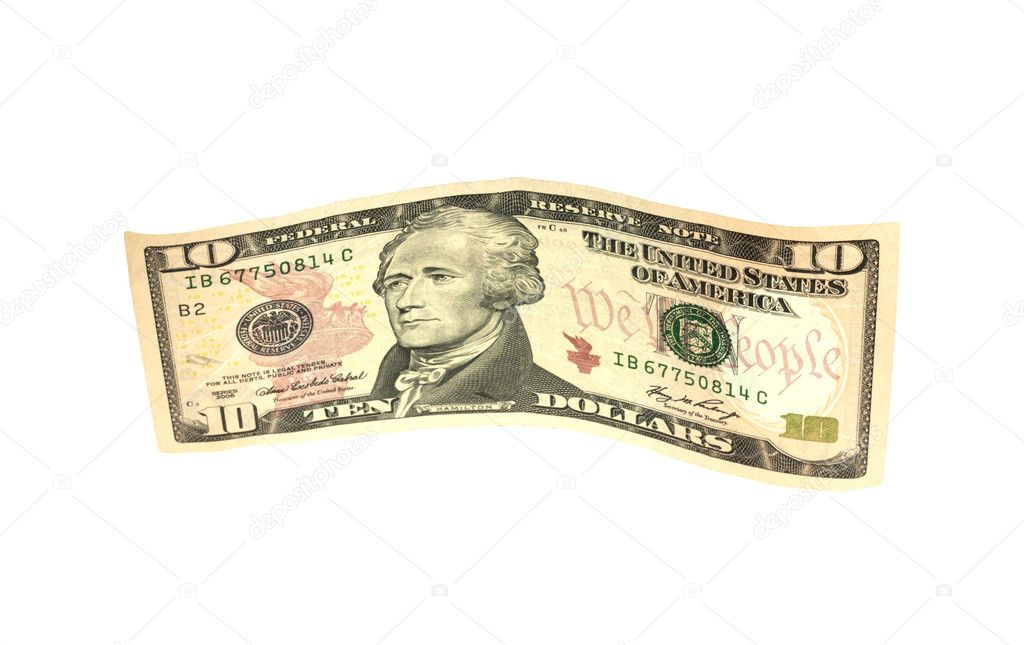 Ten dollar  — Stock Photo #6866194