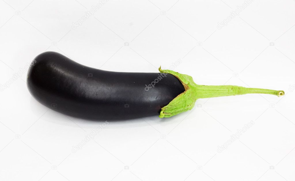 Eggplant on white background   Stock Photo #6866251