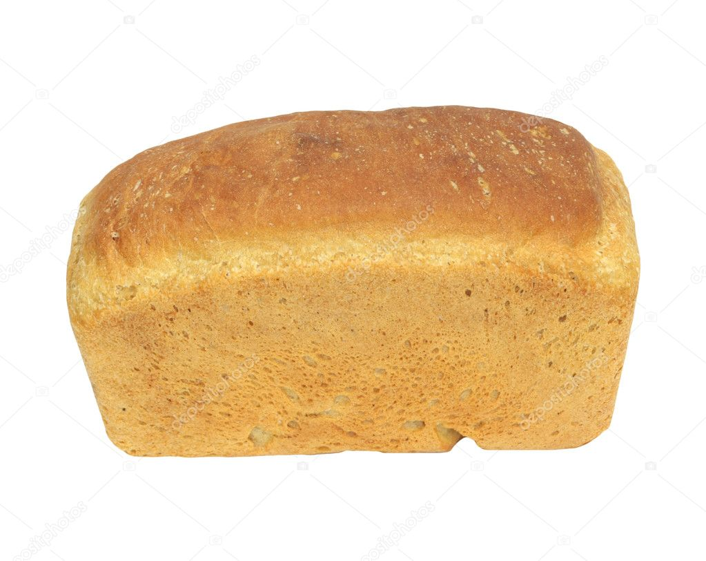 White Bread Loaf White Bread Loaf Isolated on
