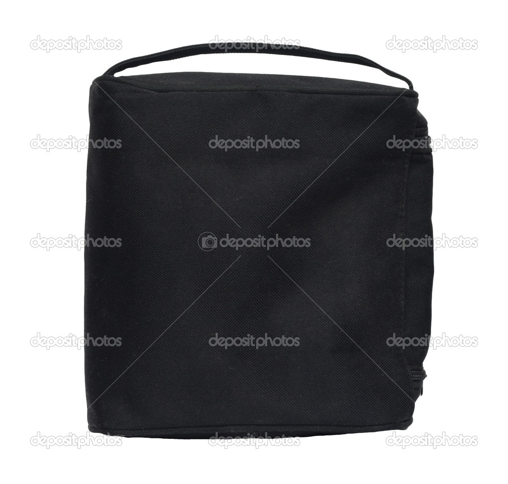 Black business briefcase isolated on white background. With clipping path. Front view.  — Stock Photo #6867110