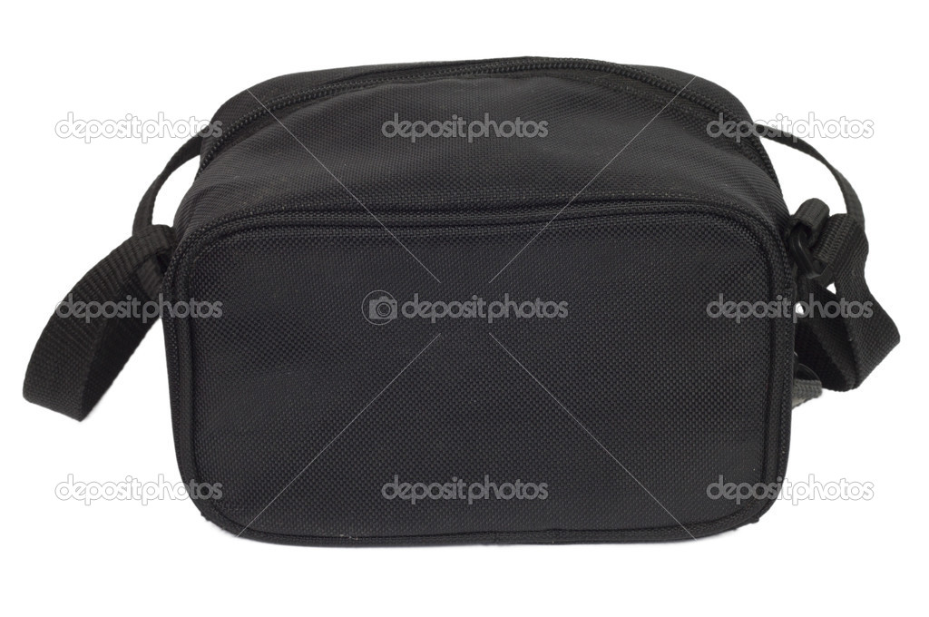 Black man's bag on a white background — Stok fotoğraf #6867784