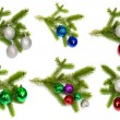 Firry twig and toys (color spheres). — Stock Photo #6873207