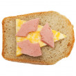 Stock Photo: Radioactive sandwich
