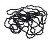Schwarze kette mit kleinen diamanten ilolated auf der weißen backgro — Stockfoto