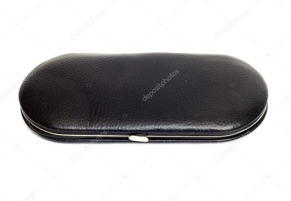 Leather manicure case isolated on white.  — Stock Photo #6874123
