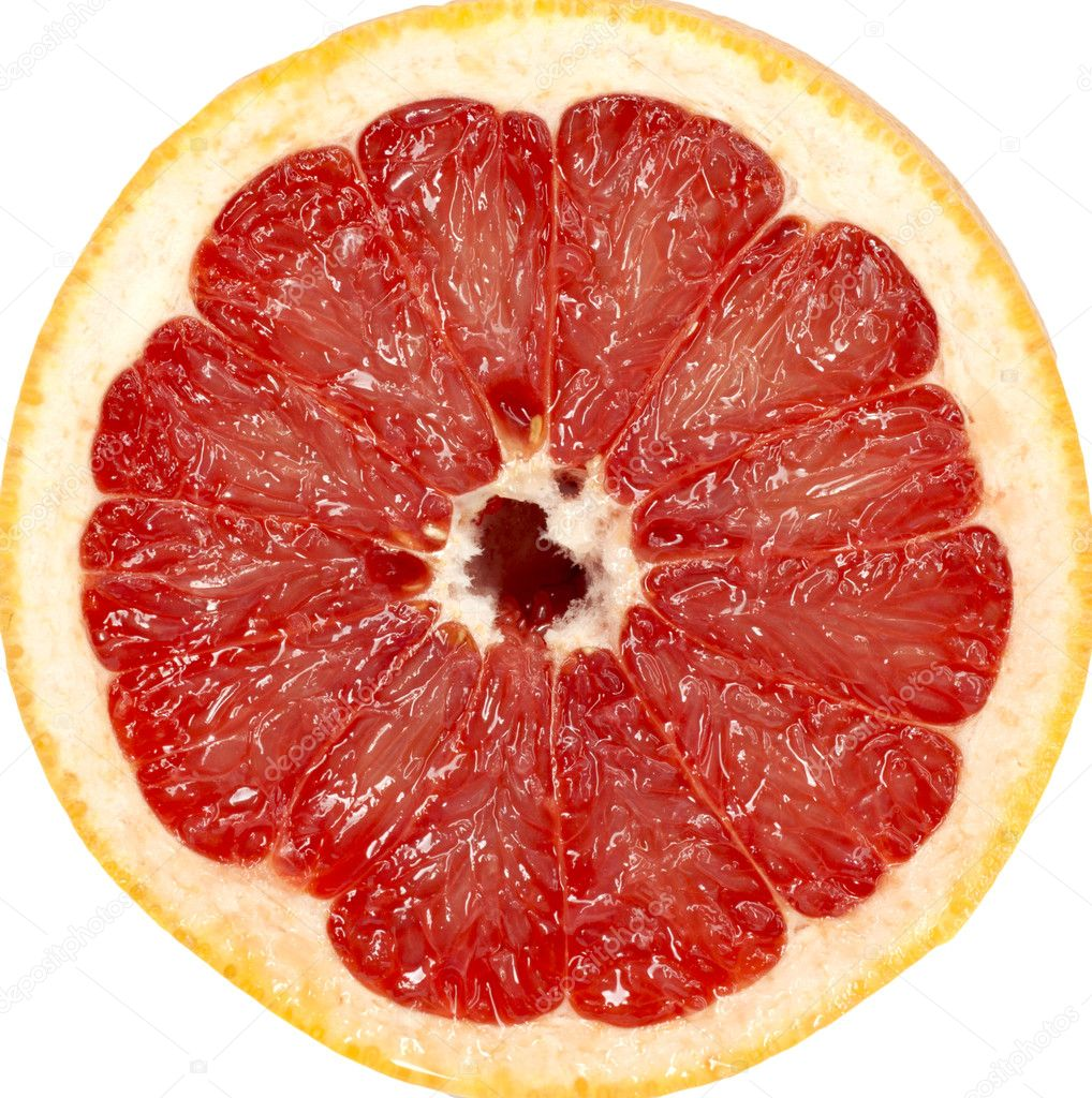 Red grapefruit close-up macro shot  — Stock Photo #6874884