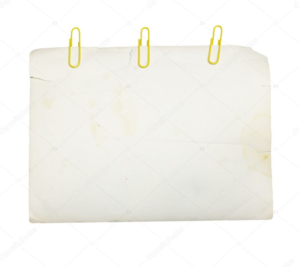 Paper sheet  — Stock Photo #6875153