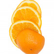 Slice of orange. isolated on white. — Stock Photo