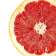 Red grapefruit close-up macro shot — Stock Photo #7486510