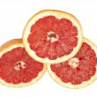 Ripe grapefruit on a white background — Stock Photo