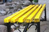Yellow bench — Stock Photo