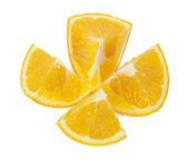 Oranges isolated on white — Stock Photo